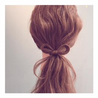 リボンのヘアアレンジ