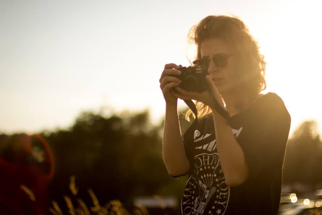 ヘアアレンジとカメラ